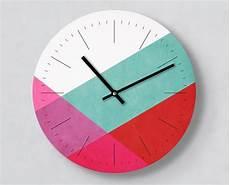 moderne wanduhr pink layer 30 cm mit und ohne