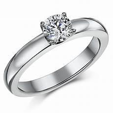 titanium bridal cz engagement single stone ring