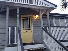 dulux lemon delicious yellow front door with grey exterior colour scheme house renovations