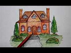 Cara Menggambar Rumah Kartun