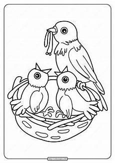Vogel Malvorlagen Pdf Vogel Ausmalbilder F 252 R Kinder Vogel Malvorlagen