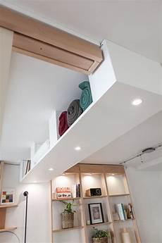 rangement suspendu au plafond afin d encadrer votre bedup