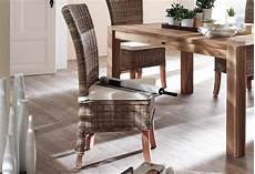 Rattan Kitchen Furniture Rattan Dining Chairs Presenting Modern Rusticity For