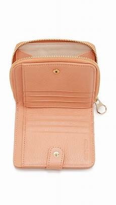 lyst see by chlo 233 small wallet in orange