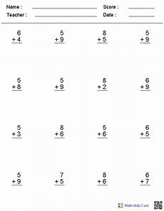 single digit addition math worksheet addition worksheets dynamically created addition worksheets