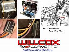 1969 1972 Corvette High Blower Relay Wire Color And