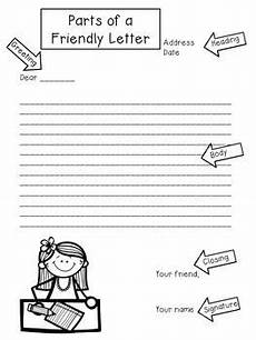 freebie parts of a friendly letter writing friendly letters writing lessons first grade