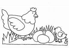 Family Of Chicken Colouring Page Picolour