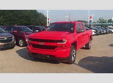 2018 Chevrolet Silverado 1500 Custom 4WD Double Cab Red