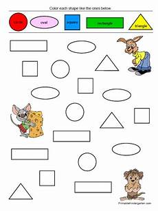 coloring pages printable shapes colors worksheets