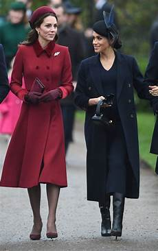 kate middleton and meghan markle christmas day church service in king s 12 25 2018