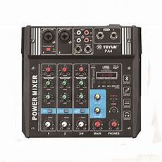 Teyun Channel Audio Mixer Mixing Console by Teyun Pa4 4 Channel Audio Mixer Mixing Console With Built