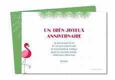 Carte Anniversaire Joyeux Flamant Planet Cards