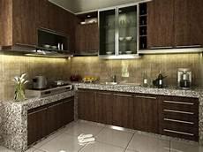 elegant kitchen interior with brown furniture 4 home ideas