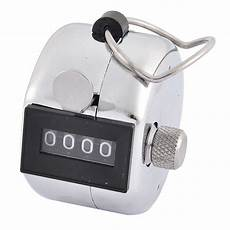 Tally Counter Stainless office stainless steel handheld 4 digit numbers table desk