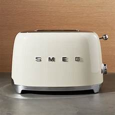 smeg 2 slice retro toaster crate and barrel