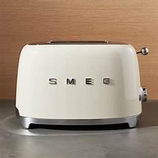 smeg toaster günstig smeg 2 slice retro toaster crate and barrel