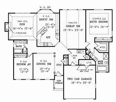 ranch house plans with split bedrooms split bedroom ranch for modest lot 3858ja 1st floor