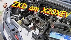 zylinderkopfdichtung wechsel reparieren an einem x20xev
