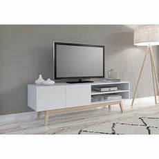 meuble tv scandinave ikea meuble tv scandinave snow laqu 233 l160cm pi 232 tement bois