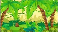 5x7ft Kartun Hutan Tropis Daun Kelapa Hutan Photo Studio