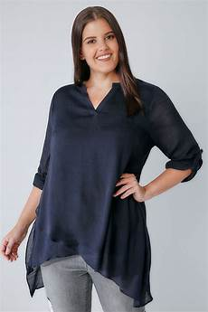 layering blouse navy layered blouse with notch neck plus size 16 to 36