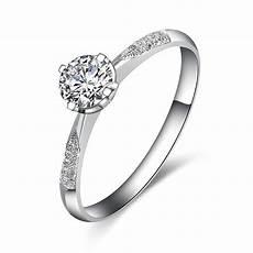 elegant diamond ring 0 50 carat cut diamond white