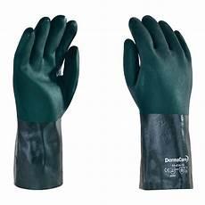 guante pvc verde 35 cm