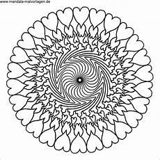 mandalas zum ausdrucken herzen frisch ausmalbilder mandala