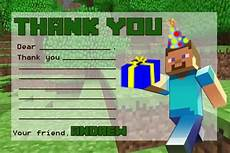 minecraft thank you card template minecraft thank you note with blanks by twotwelvedesigns