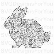 mandala bunny svg easter bunny svg mandala rabbit clip
