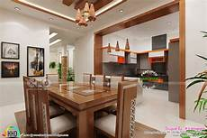 interior design for kitchen and dining kerala home design and floor plans