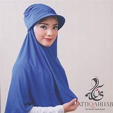 Turban Topi Instan Blue Baju Muslim Gamis Modern