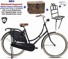 Hollandrad Mit Korb Vorne - damen hollandrad 28 zoll schwarz matt komplett mit luxus