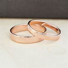 14k rose gold wedding band set gold wedding rings 3mm