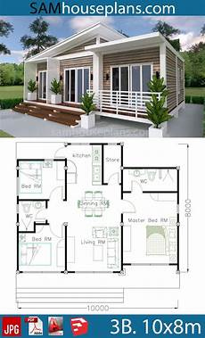 simple sims 3 house plans house plans 10x8m with 3 bedrooms in 2020 beach house