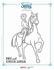 Spirit Malvorlagen Terbaik Spirit Free Pru And Chica Coloring Page