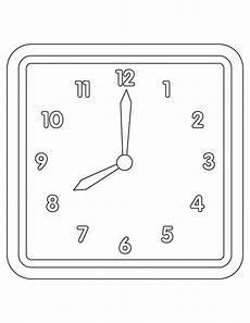 Contoh Gambar Gambar Untuk Mewarnai Jam Dinding Kataucap