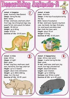 describe animals worksheets 13839 describing animals 2 worksheet free esl printable worksheets made by teachers animal