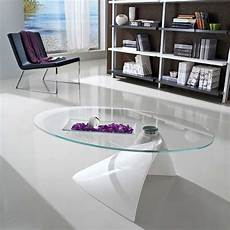 table basse design en verre table basse design ovale en verre 4 pieds