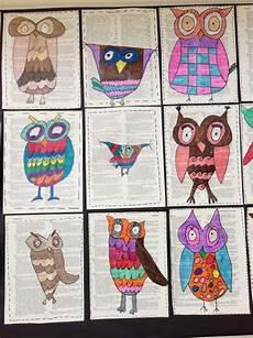 3rd grade owls apex elementary art