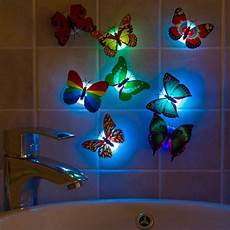 wholesale colorful artificial butterfly led night light home party bedroom wedding decoration