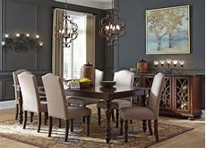 baxenburg brown extendable rectangular dining room