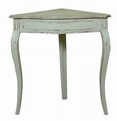 table d angle acajou terry blanc rustique mobilier