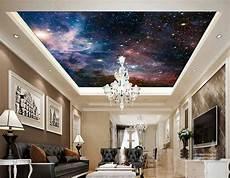 Plafond Tendu Translucide Poster Fantaisie Univers Espace