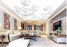 flower wallpaper ceiling wall paper white flowers 3d ceiling wallpaper mural wall