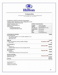 bid for hotel sales work exle
