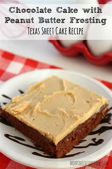 chocolate cake with peanut butter frosting texas sheet cake recipe