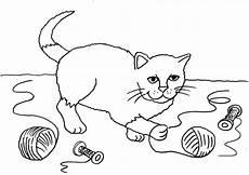 Malvorlagen Katzen Quiz Kostenlose Malvorlage Katzen Katze Mit Wollkn 228 Uel