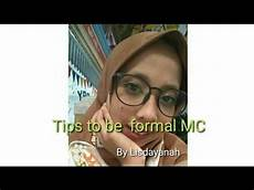 Mc Malvorlagen Bahasa Indonesia Bahasa Indonesia Tips Mc Formal By Lisdayanah